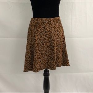 The Limited animal print skater skirt size small